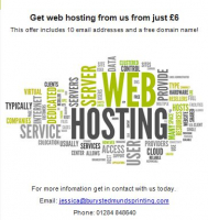 Get web hosting from £6
