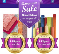 Remnants Sale - Great Prices on carpet off cuts @MilnersAshtead