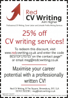25% OFF CV WRITING SERVICES