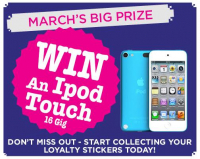 Win an IPOD TOUCH!!! with your Loyalty Card