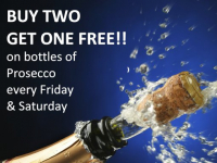 Buy 2 Bottles of Prosecco and get 3rd Free