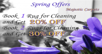 20% off rug cleaning in April with Majestic