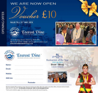 Download This £10 Off Voucher To Spend at Everest Dine, Kettering