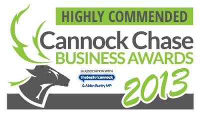 Cannock Chase Business Awards - Highly Commended