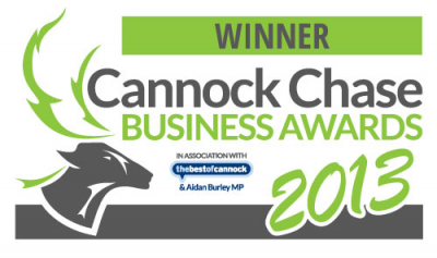 Cannock Chase Business Awards 2013 - Winner