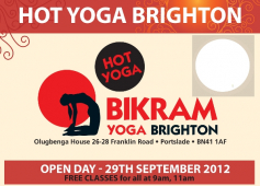 Bikram Yoga Brighton in Portslade Open Day. Free Hot Yoga Classes and a Special Offer
