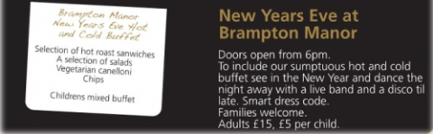 Brampton Manor New Years Eve Tickets now on Sale!