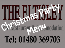 Xmas Party Menu at The Eltisley Pub Restaurant just outside St Neots