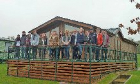 Shrewsbury Students work with Salop Leisure visiting holdiay home parks