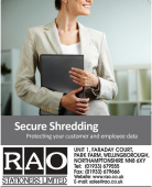 RAO Stationers offer Secure Data Shredding