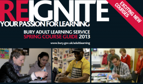 Spring 2013 Courses at Bury Adult Learning