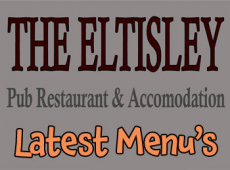 Latest Menu's at The Eltisley just outside St Neots