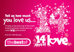 Billericay's A J Stephenson is streaking ahead in thebestof's 14 Days of Love 2013!