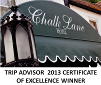 Chalk Lane Hotel Epsom wins Trip Advisor Certificate of Excellence Award @chalklanehotel
