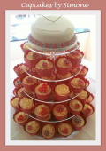 How will your wedding top table stand out? Haverhill's Cupcakes by Simone make a stunning centrepiece
