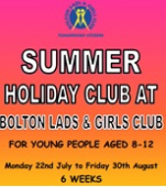 Bolton Lads and Girls Club Summer Club, has tons of fun activities for 8-12 year olds in summer 2013