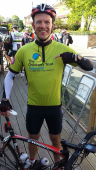 Epsom Dad gets on his bike for The Children's Trust @childrens_trust @bikebeanscafe
