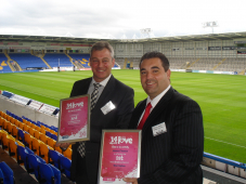 Moore Finance receive their 'Most Loved Business'' awards at Leaders in Sport & Business event at the Halliwell Jones Stadium