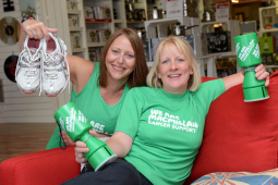 A manager at a Shrewsbury furniture store puts best foot forward for charity