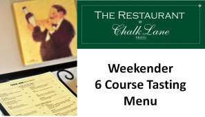 Food at its best! A chance to sample exquisite food and service at The Restaurant @ Chalk Lane Hotel with the Weekender Tasting Menu @ChalkLaneHotel