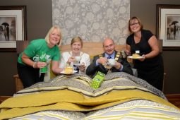 Macmillan fundraiser at Shrewsbury furniture store