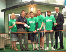 Football stars join Shrewsbury caravan dealership for World's Biggest Coffee Morning
