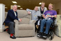 Shrewsbury furniture store provides chair for former soldier