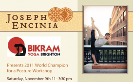 International Yoga Champion Joseph Encinia comes to Bikram Yoga Brighton