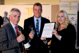 Moore Foundation chairman Nigel Garner receives Contribution to the Community Award at the first Warrington Inspiration Awards