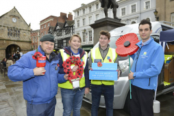 Motorhome loan supports the Royal British Legion Poppy Appeal in Shrewsbury