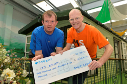 Managing Director of Salop Leisure raises money for the Multiple Sclerosis Society