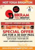 Bikram Yoga Brighton - Free Hot Yoga Classes on Saturday 26th April