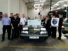 Trust My Garage visit Russell Automotive in Funding Raising Challenge