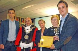 Shrewsbury caravan dealership recognised for outstanding contribution to the community