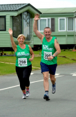 Husband and wife team from Shrewsbury caravan dealership enter the Shrewsbury half marathon