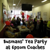 Year of the Bus – Tea Party at Epsom Coaches @epsomcoachesgro #yearofthebus