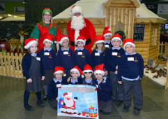 Children treated to lunch with Santa at Shrewsbury caravan dealership Salop Leisure
