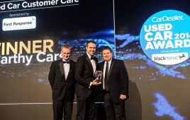 McCarthy Cars recognised for outstanding customer care at the Used Car Awards 2014