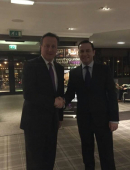 "Prime Minister David Cameron ""pops in"" to Village Hotel, Bury"