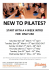 Pilates 4-week Intro Course at the Pilates Pod, Hitchin