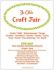Ye Olde Craft Fair at New Malden Methodist Church