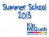 Kip McGrath Education Centre Summer School 2013, Basildon