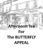 You are invited to tea on Wednesday– at 143 The Canopy in Epsom for The Butterfly Appeal