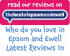 The businesses you Love in Epsom and Ewell – latest Reviews