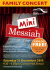 Mini Messiah family concert at Colston Hall - kids go FREE!
