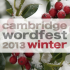 Cambridge Wordfest Winter Festival 2013 is on its way!
