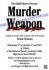 Murder Weapon - Weds 2 April to Sat 5 April 7.30pm