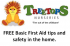FREE Basic First Aid & Safety at Home – Treetops Nursery Epsom @RoarieTreetops