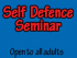 Self Defence Class - Open to all Adults