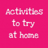 Activities to try at home - Playdough